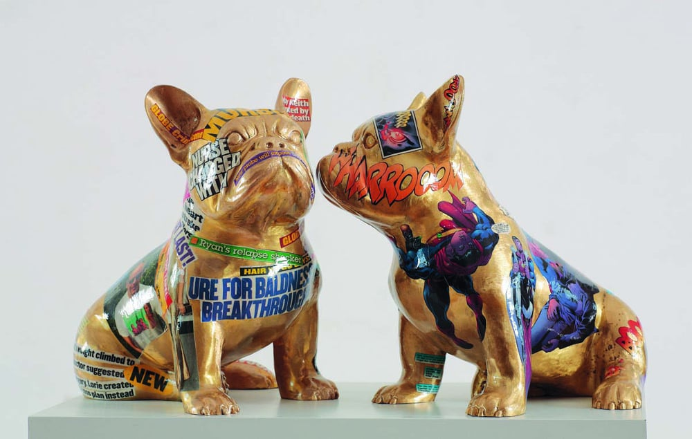 escultura pop art bulldog frances doggy john
