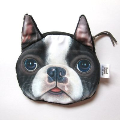 monedero bulldog frances negro blanco