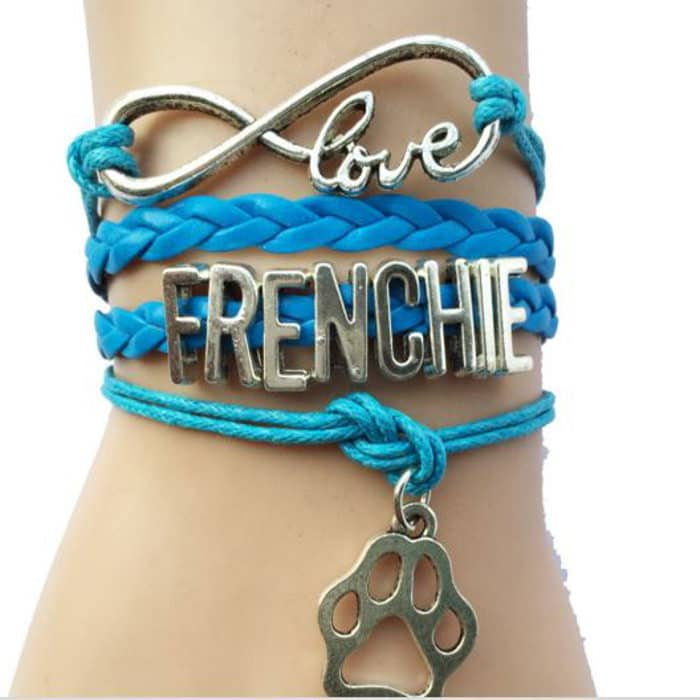 pulsera bulldog frances love frenchie azul