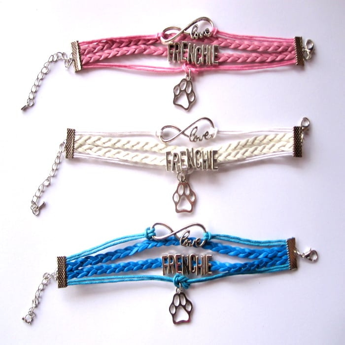 pulsera bulldog frances love frenchie varios colores