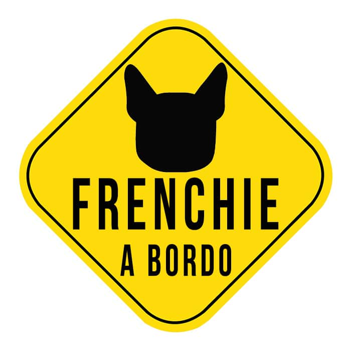 pegatina coche bulldog frances frenchie a bordo