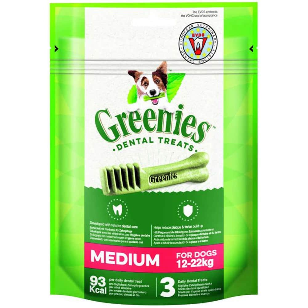 snacks premios perro higiene dental greenies medium bolsa
